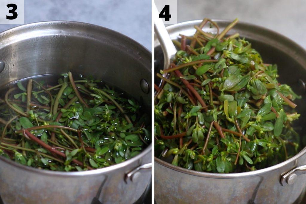 Purslane salad recipe: step 3 and 4 photos.