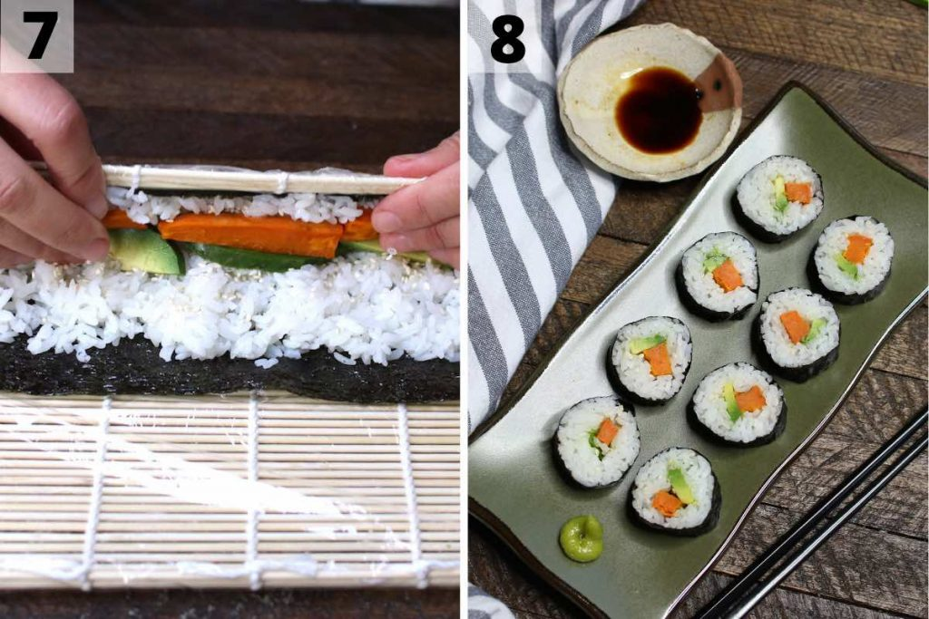 Sweet Potato Sushi Roll recipe: step 7 and 8 photos.