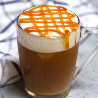 Try this copycat recipe of the popular Starbucks drink – Caramel Could Macchiato! Airy, foamy, full of delicious espresso and vanilla flavor, and topped with buttery caramel sauce. This Starbucks cloud macchiato recipe is not to be missed!