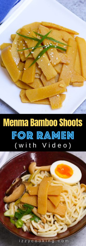 Menma is a popular Japanese condiment that's slightly crunchy and full of flavors. It's made from lactate-fermented bamboo shoots, and often used as a topping for ramen noodles. In this post you'll learn everything about Menma food and how to make menma for ramen in less than 15 minutes. #Menma #MenmaFood #MenmaRamen
