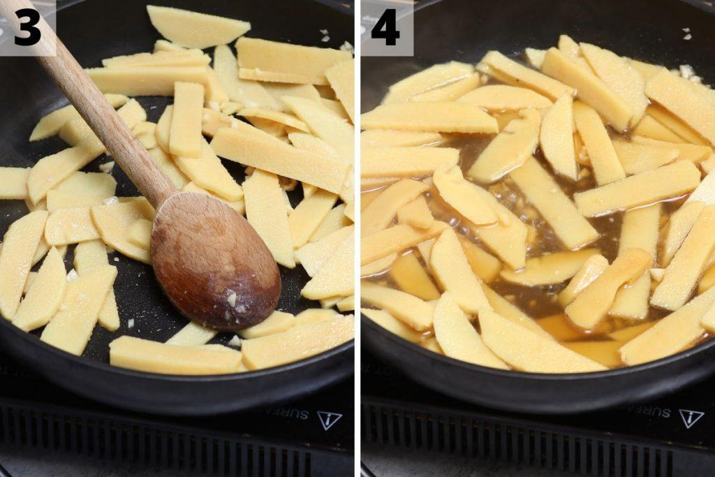 Menma recipe: step 3 and 4 photos.
