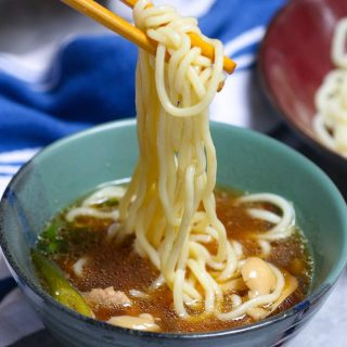 Easy homemade Tsukemen is rich and comforting with Japanese ramen noodles, a flavorful dipping broth, tender pork belly, fresh veggies, and a soft cooked egg. It's tastier and healthier than the restaurant version, but on the table in less than 30 minutes.