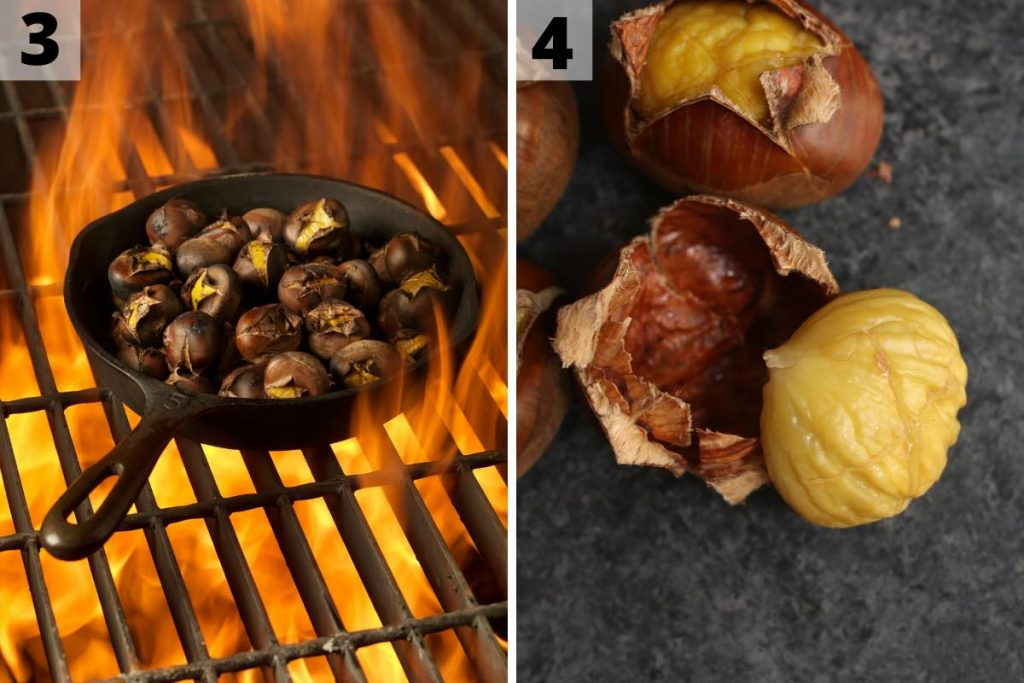 Chestnuts roasting recipe: step 3 and 4 photos.