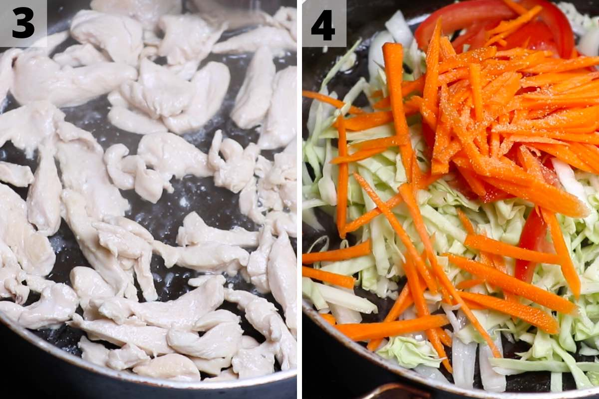 Pad woon sen recipe: step 3 and 4 photos.