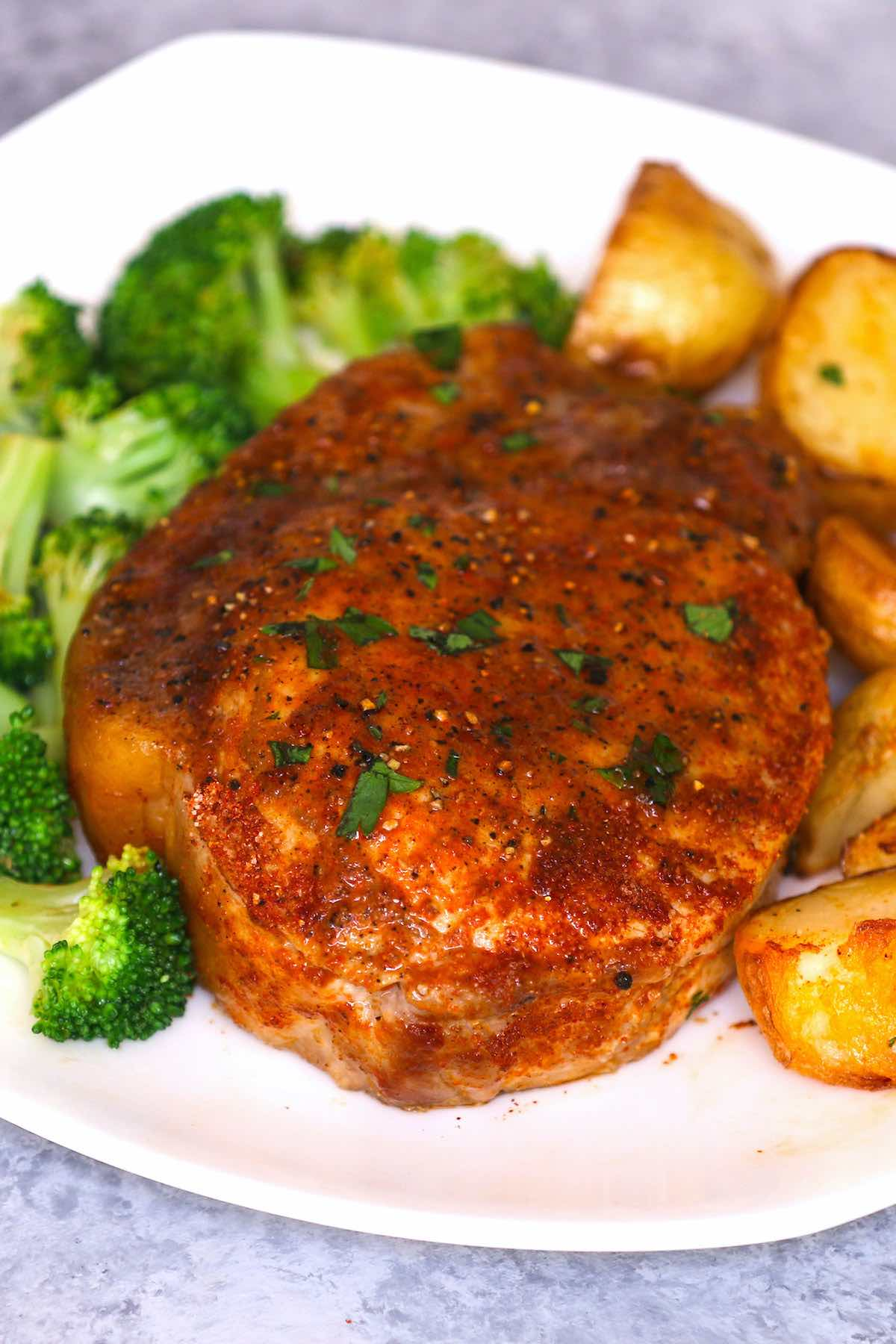 Never make dry and overcooked pork chops again! This Sous Vide Boneless Pork Chops recipe makes perfect juicy and tender pork that's impossible to achieve with traditional methods! Sous vide machine cooks the chops to your targeted temperature precisely – extremely easy to make with very little fuss. I love how juicy they come out EVERY TIME!