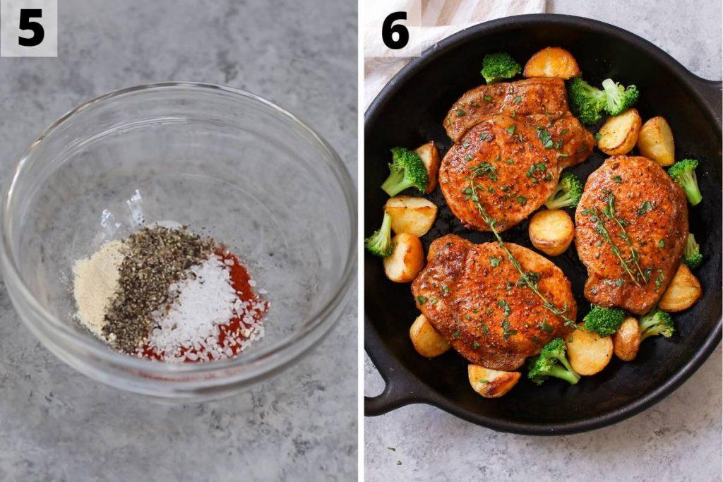 Sous Vide Boneless Pork Chops Recipe: Step 5 and 6 photos.