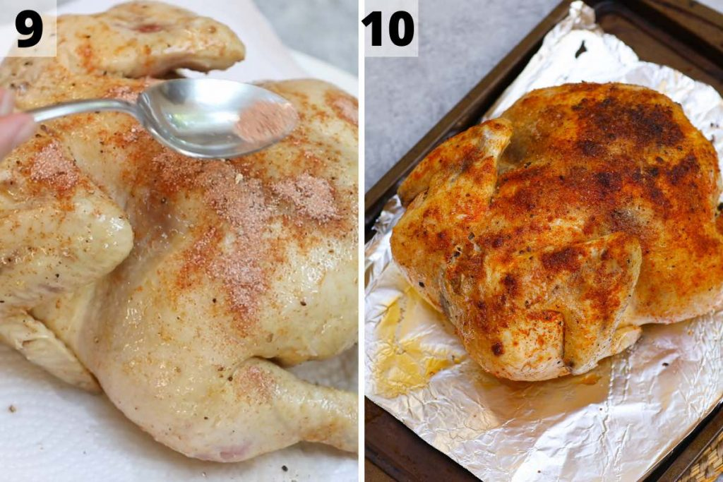 Sous Vide Whole Chicken Recipe: Step 9 and 10 photos.