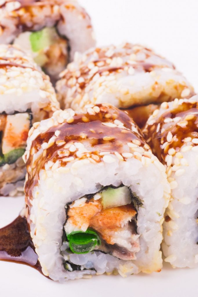 Unagi Sushi Rolls are filled with bbq eel, crunchy cucumber, then rolled in nori seaweed sheet and sushi rice! I like to drizzle it with delicious unagi sauce for an extra flavor. This eel sushi is a popular Japanese sushi item and one of my favorite sushi rolls. In this homemade recipe, you will learn how to make sushi rice, how to prepare the unagi, and how to roll the sushi!