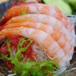 Amaebi means sweet shrimp in Japanese. It's one of the most popular dishes among sushi lovers. Amaebi is often served raw as amaebi sashimi, amaebi sushi, or amaebi nigiri.