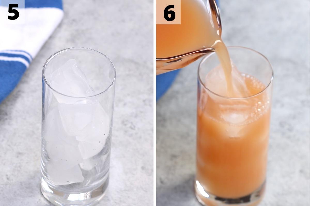Iced Guava White Tea Recipe: Step 5 and 6 photos.