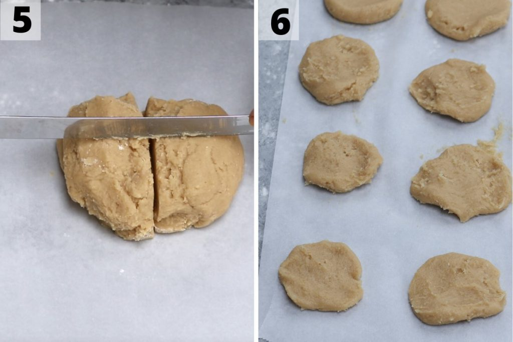 Mochi Cookies Recipe: step 5 and 6 photos.