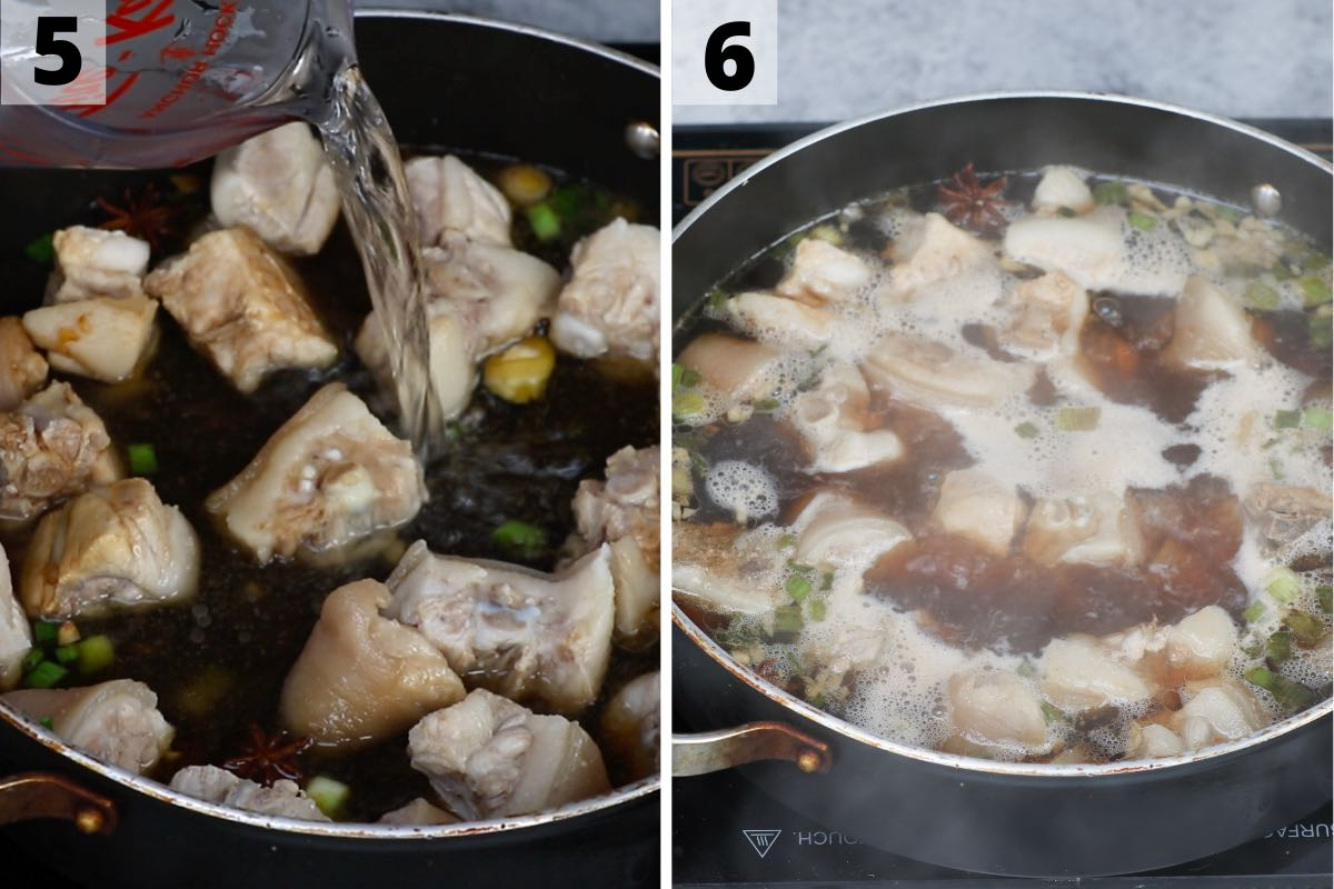 Pig tail recipe: step 5 and 6 photos.