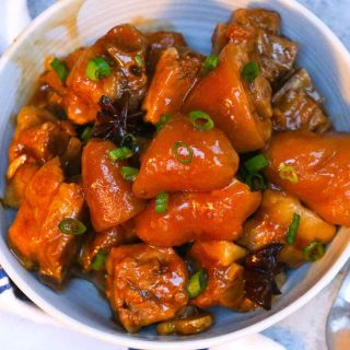 Braised Pig's Tail is sticky, tender, and melt-in-your-mouth delicious. The pork tails are cooked low and slow in a rich and flavorful soup on the stove. This Chinese style pigtail's recipe is so easy to make and one of my favorite Asian food.