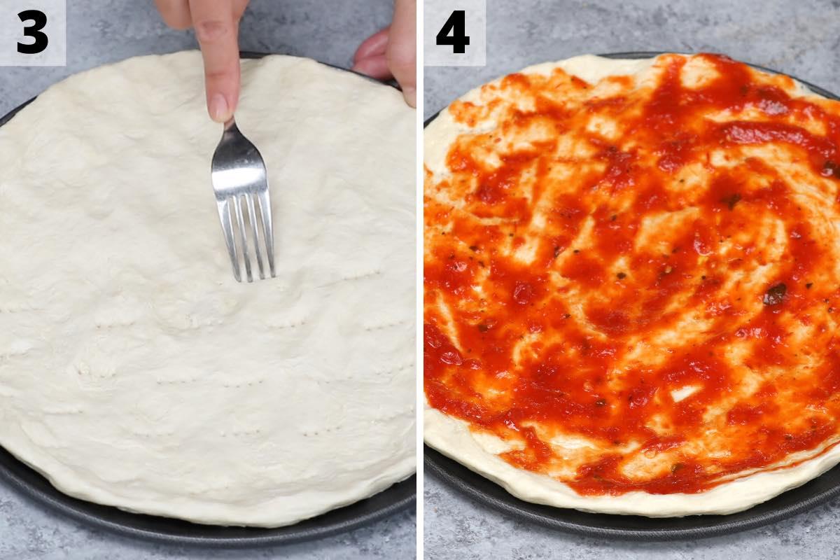Sardine Pizza recipe: step 3 and 4 photos.
