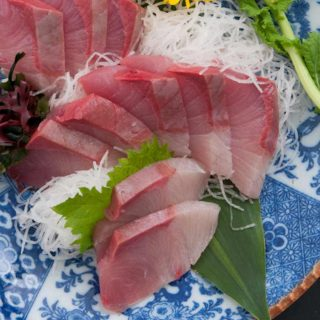Yellowtail Sashimi made with delicious and buttery Hamachi fish! It's so much cheaper than the Japanese restaurants, and incredibly easy to make at home.