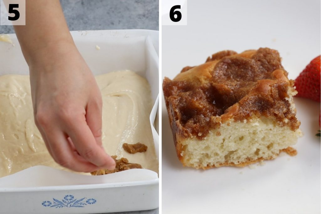 Bisquick Coffee Cake Recipe: step 5 and 6 photos.