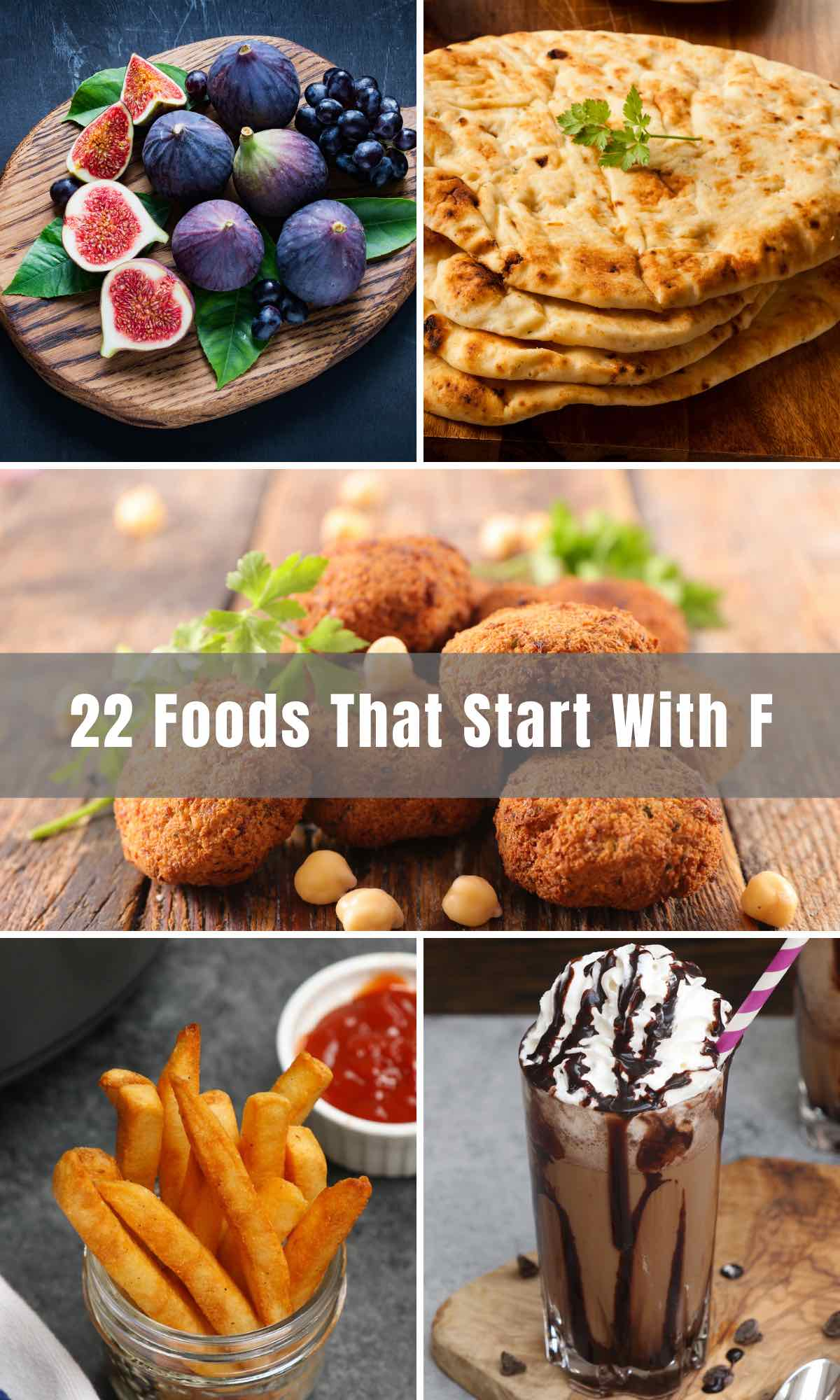 """Before we get to foods that start with the letter """"F"""", let's take a second to think of other words that are connected to food - favorite, favor, fantastic, flavorful, fabulous, famous, fantastic, fancy, fascinating, and fresh! With that enjoy the list below of foods that start with the letter """"F""""."""