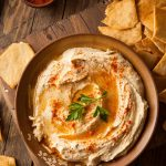 Hummus is a delicious Middle Eastern chickpea spread. Things immediately coming to mind are crackers and pita bread to eat with hummus. In fact, there are so many foods that you can dip in hummus as well as other ways to use hummus!