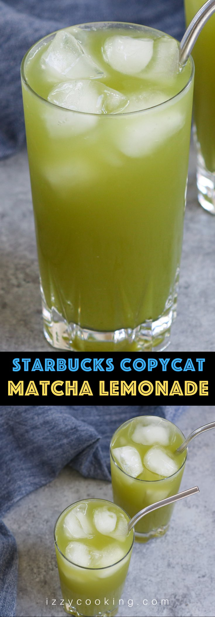 Looking to freshen up a hot summer day? Matcha Lemonade is a great way to start your day off bright. Bright green, that is. This refreshing and sweet iced matcha green tea lemonade is a copycat of the Starbucks' favorite that's similar to the classic Arnold Palmer drink. It's so easy and takes a few minutes to make!