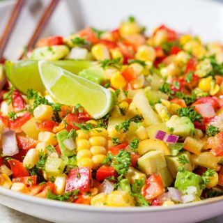 Best sides for tacos: easy Mexican corn salad recipe!