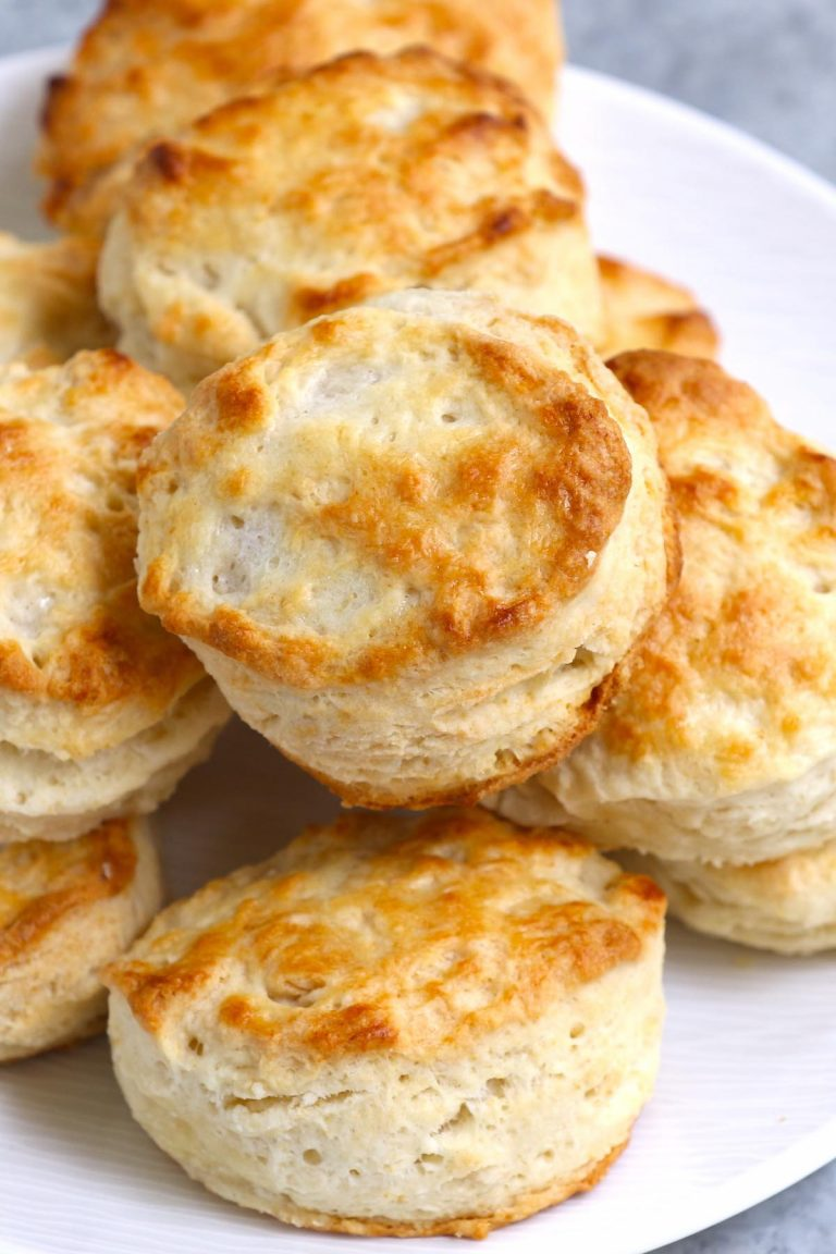 These copycat Popeyes Buttermilk Biscuits are flaky, buttery, crispy and oh-so-satisfying! They're a homemade take on a fast-food favorite. Though Popeyes is best known for their delicious fried chicken, biscuits are one of their most popular side dishes - and for good reason.