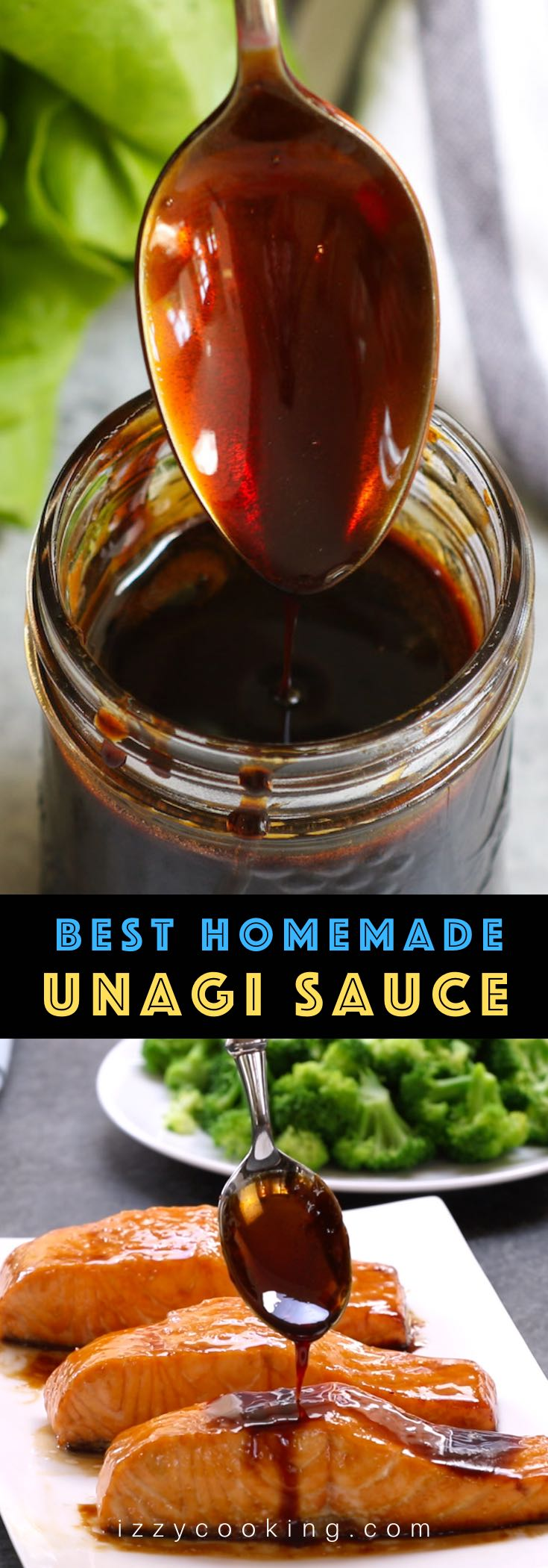 This homemade Unagi Sauce or Eel Sauce is sticky, sweet, savory, and flavorful! Popular in Japanese cuisine, it's traditionally used on grilled eel (unagi), barbeque dishes and sushi rolls. Unagi sauce is made by simmering 4 simple ingredients to a sugary, salty reduction that's perfect atop your favorite dish.