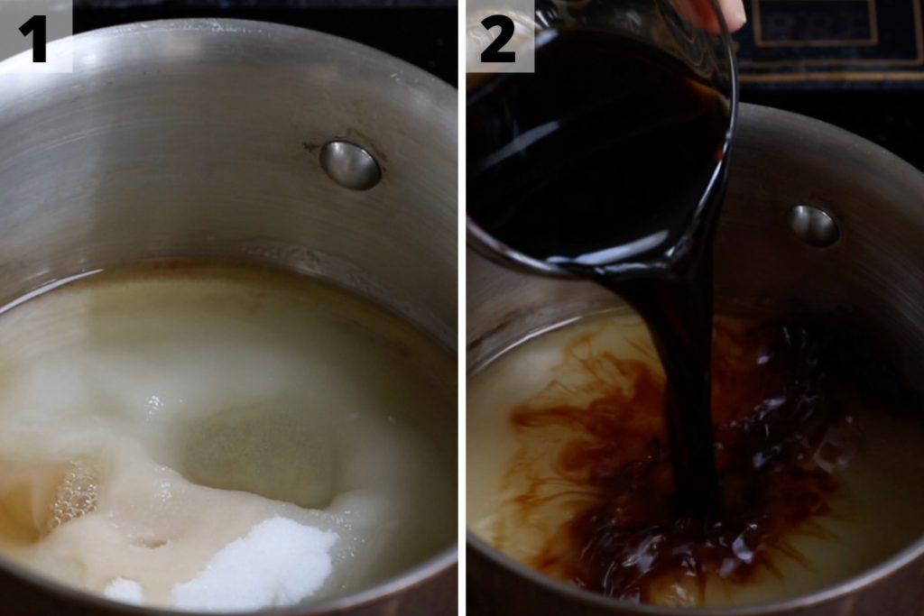 Unagi sauce recipe: step 1 and 2 photos.