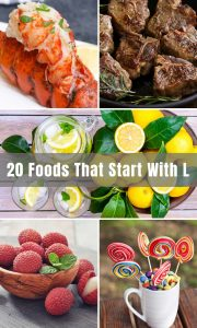 Are you looking for foods that start with L? We've covered 20 popular foods including fruits, vegetables, breakfast, and more! I'm sure you'll find something you like.