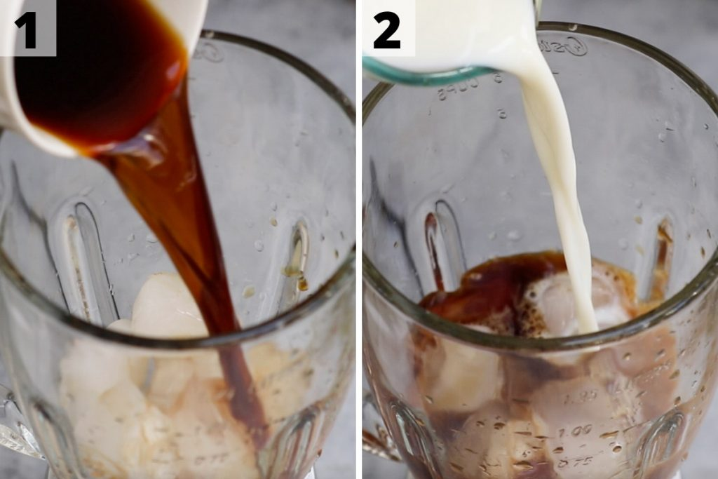 Caramel Frappuccino recipe: step 1 and 2 photos.