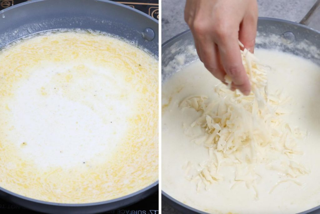 Cavatappi pasta recipe: making the cheese sauce part 2.