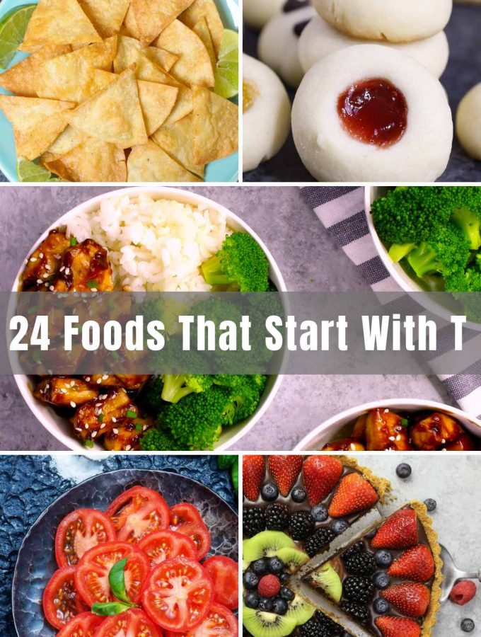 """From your everyday favorites to perhaps something you've never experienced before, try out some Foods that Start with """"T"""" today! This list covers breakfast, snacks, dessert and more, and I'm sure you'll find something you like!"""