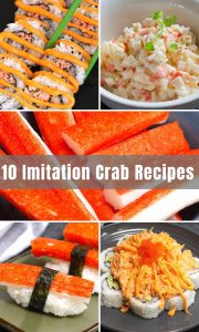 """Are you longing for a taste of crab meat but have no access to the real thing? Imitation Crab or crab sticks are a popular alternative. It's found in many recipes like crab salad, California rolls, and crab cakes. In this post you'll learn everything from """"what is imitation crab meat"""" to the 10 most popular imitation crab recipes."""