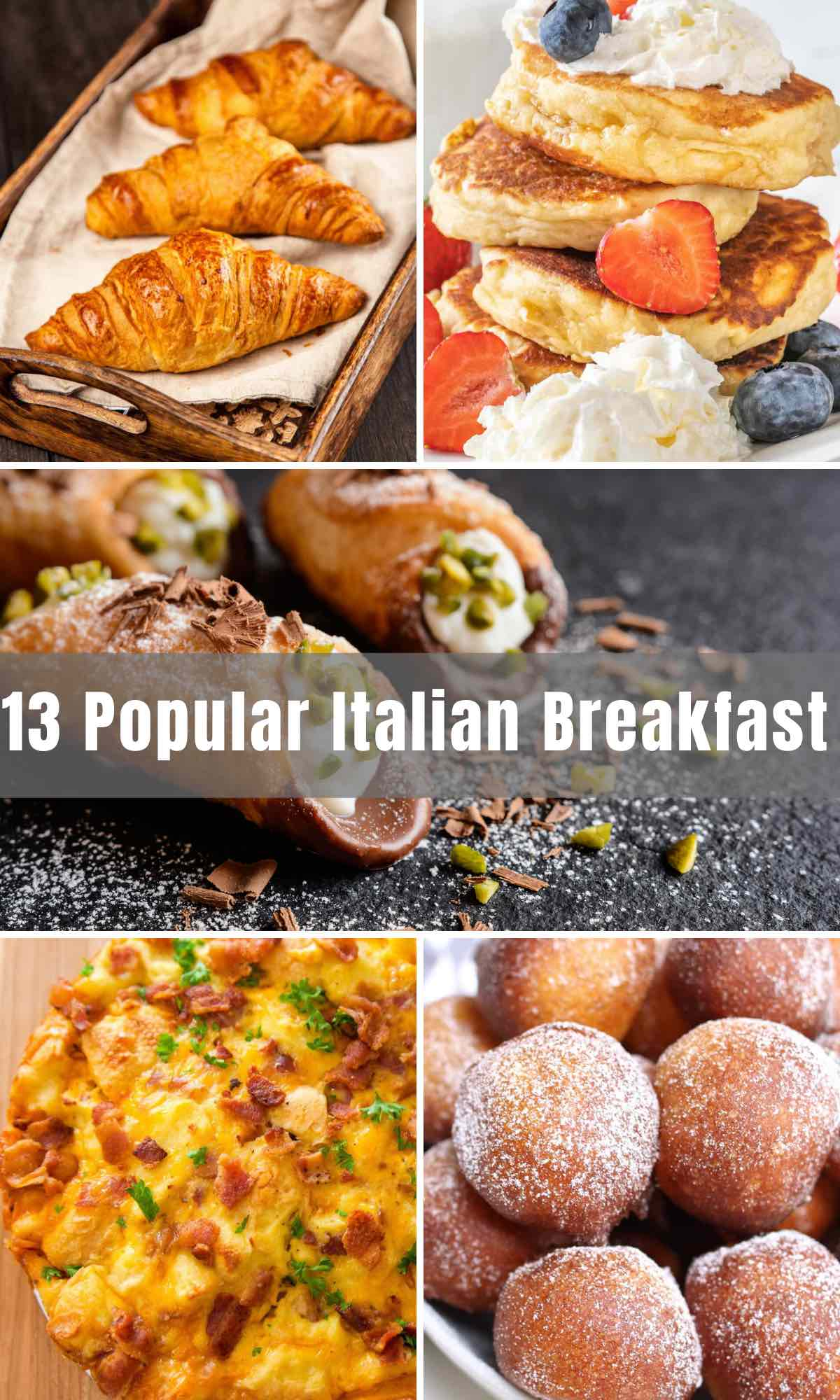 We've rounded up the 13 best Italian Breakfast ideas ever! From traditional Italian egg dishes to typical Italian breakfast pastries and everything in between, we'll take you through 13 delicious foods and drinks below that I'm sure you and your family will love!