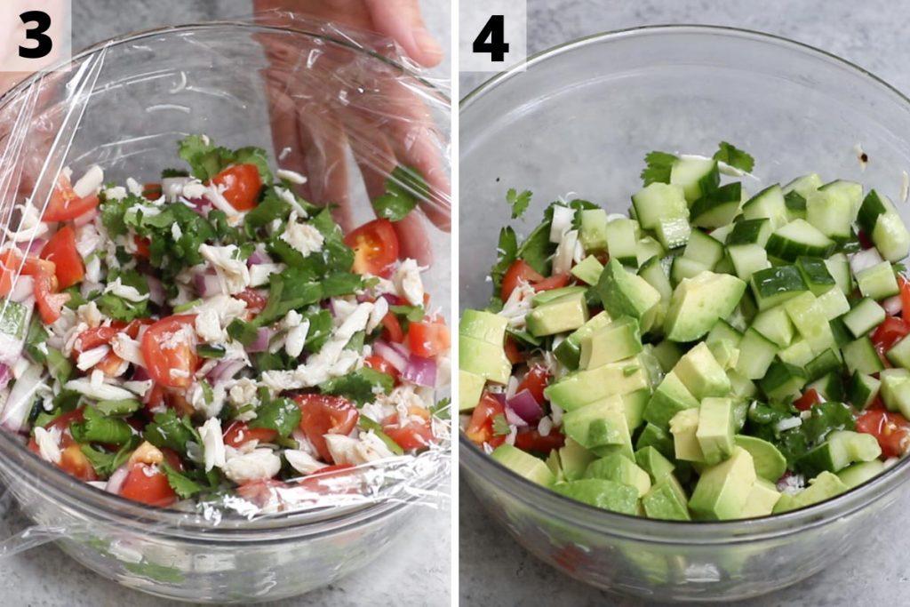 Jaiba Ceviche recipe: step 3 and 4 photos.