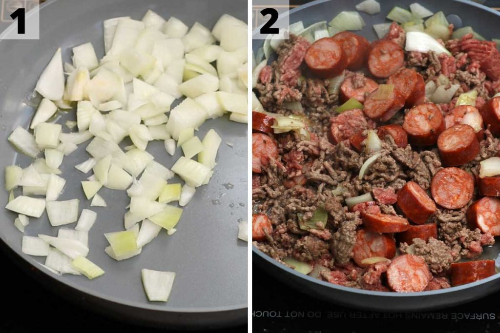 Texas Roadhouse Chili Recipe: step 1 and 2 photos.