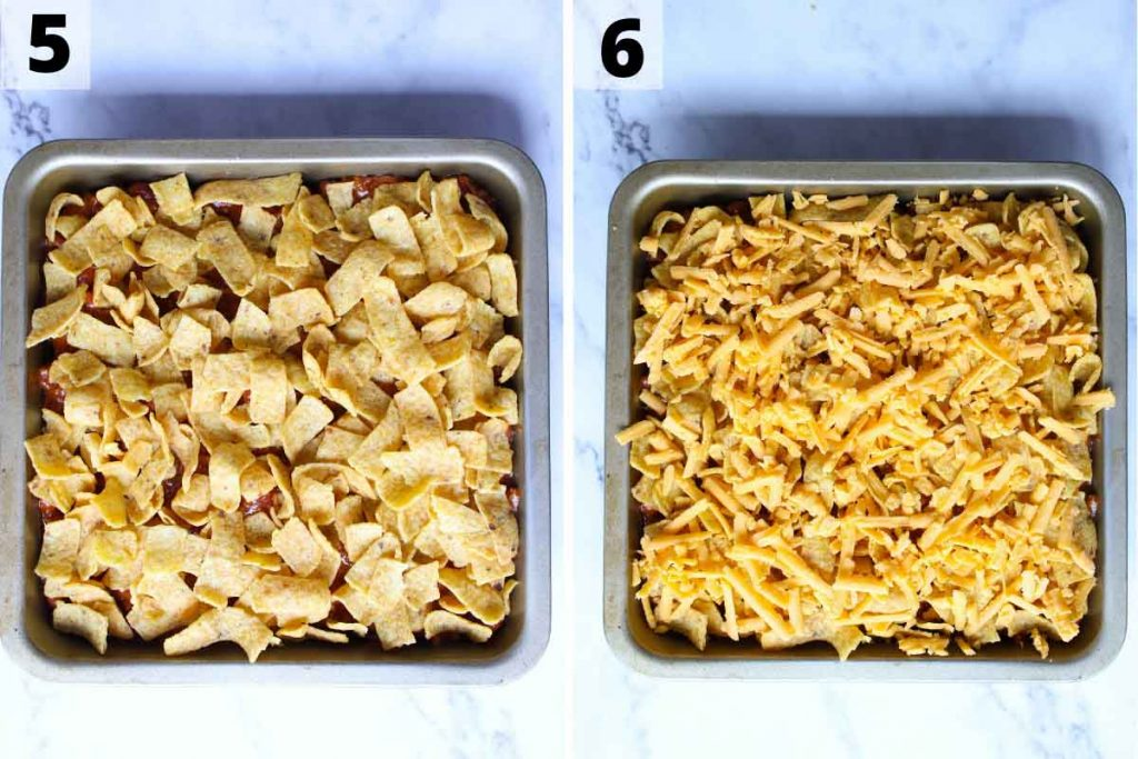 Walking Taco Casserole recipe: step 5 and 6 photos.