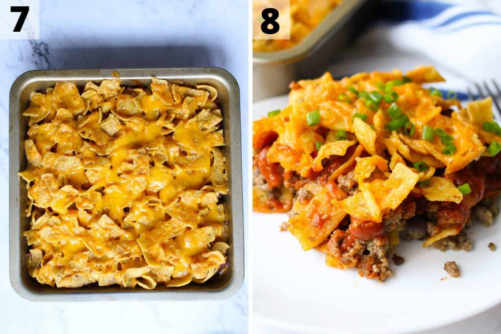 Walking Taco Casserole recipe: step 7 and 8 photos.