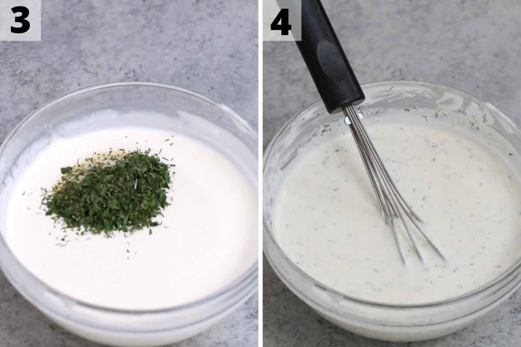 Wingstop ranch recipe: step 3 and 4 photos.