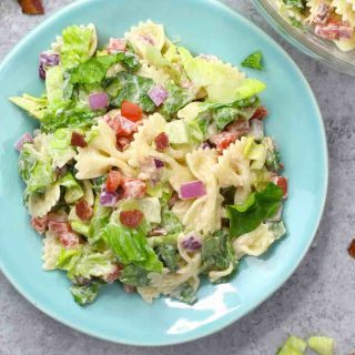 BLT Pasta Salad is one of the best BBQ side dishes for your summertime party! It's refreshing, colorful, and be on your dinner table in 15 minutes.