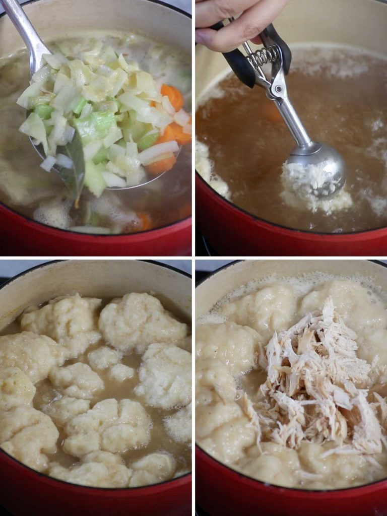 Bisquick Dumplings Recipe: Step 3 photos.