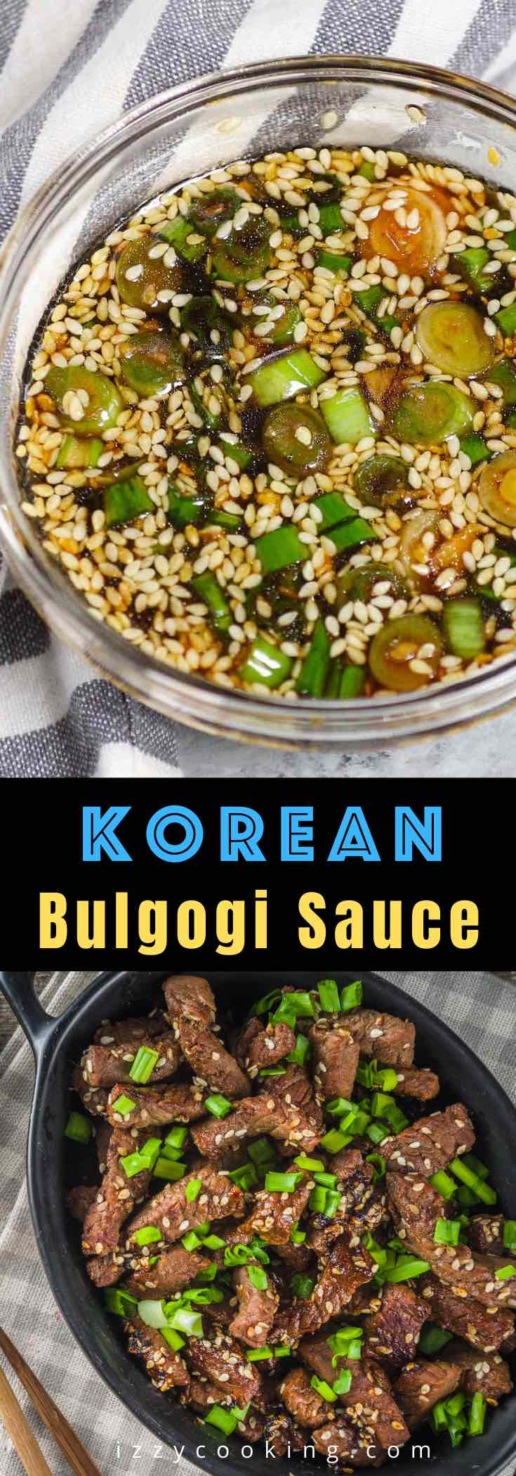 Bulgogi Sauce is sweet and savory with hints of pear, ginger, and garlic. It's a staple ingredient in Korean BBQ Beef. This easy recipe is made from scratch and adds great flavors to your grilled beef. You can also use it in the marinade, dipping sauce, burgers, stir-fry chicken, or pork served with rice or noodles.