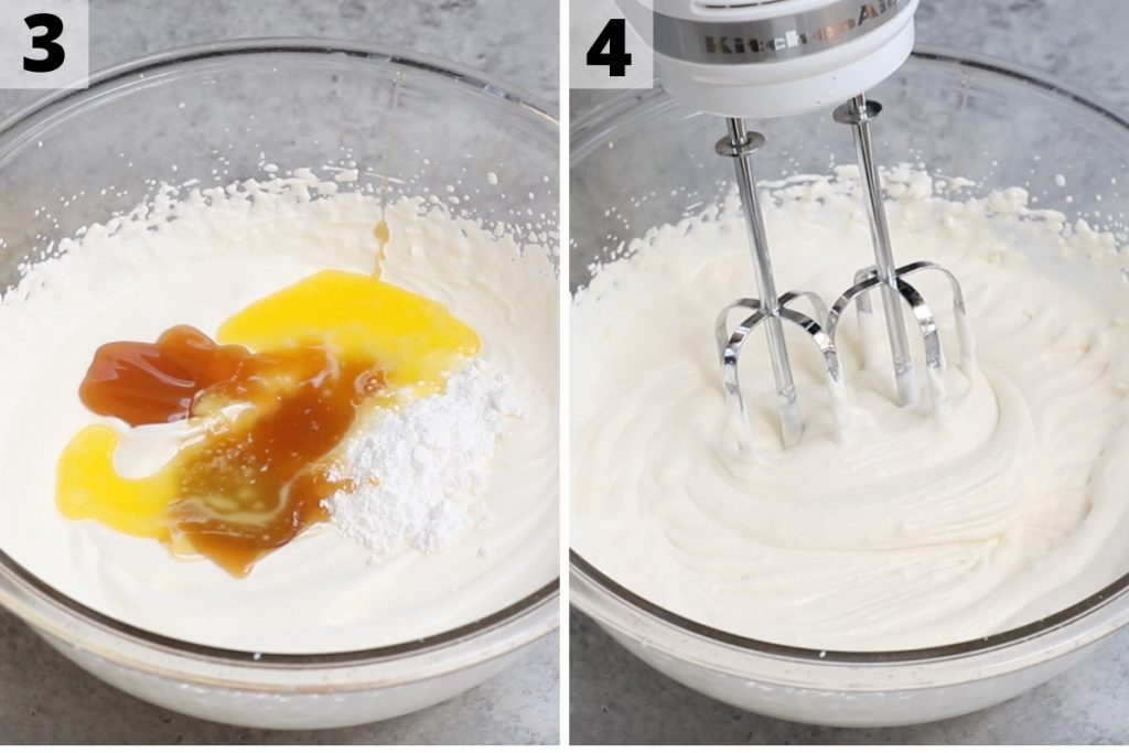 Butterbeer recipe: step 3 and 4 photos.
