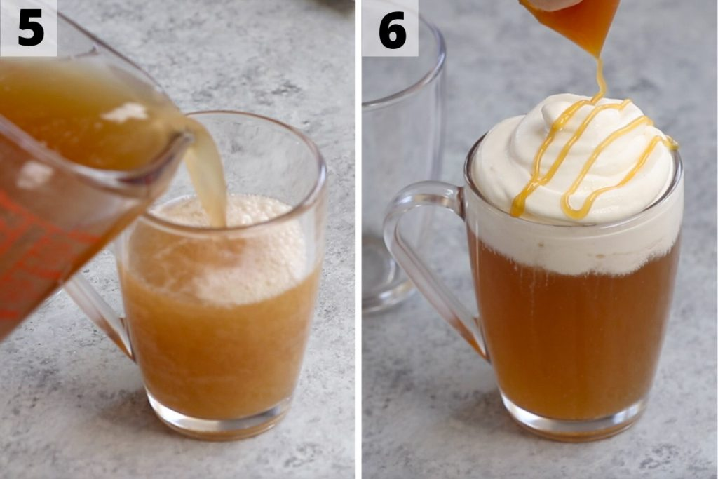 Butterbeer recipe: step 5 and 6 photos.