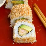 Crunchy Roll Sushi is a delicious variation of the popular California Roll. This crunchy roll features shrimp tempura filling and a crispy topping of toasted panko breadcrumbs. The flavor and texture are out of this world! This recipe is easy to make at home, rivaling the one from your favorite Japanese restaurant.