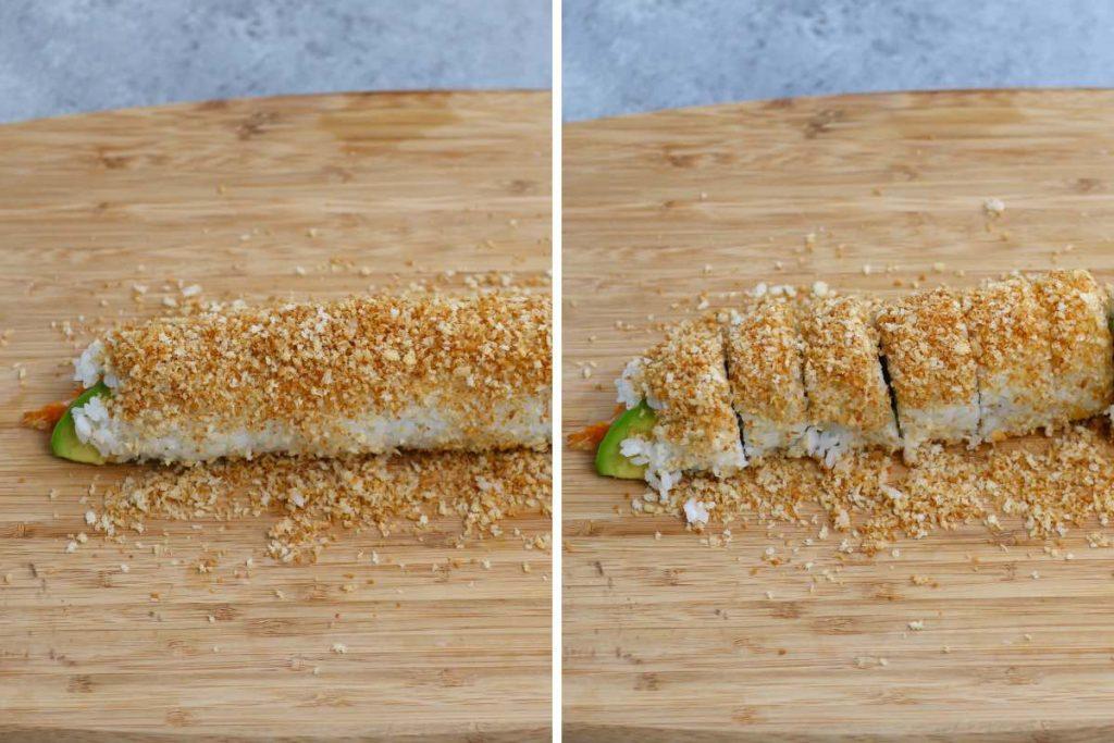 Crunchy Roll Sushi Recipe: Assembling