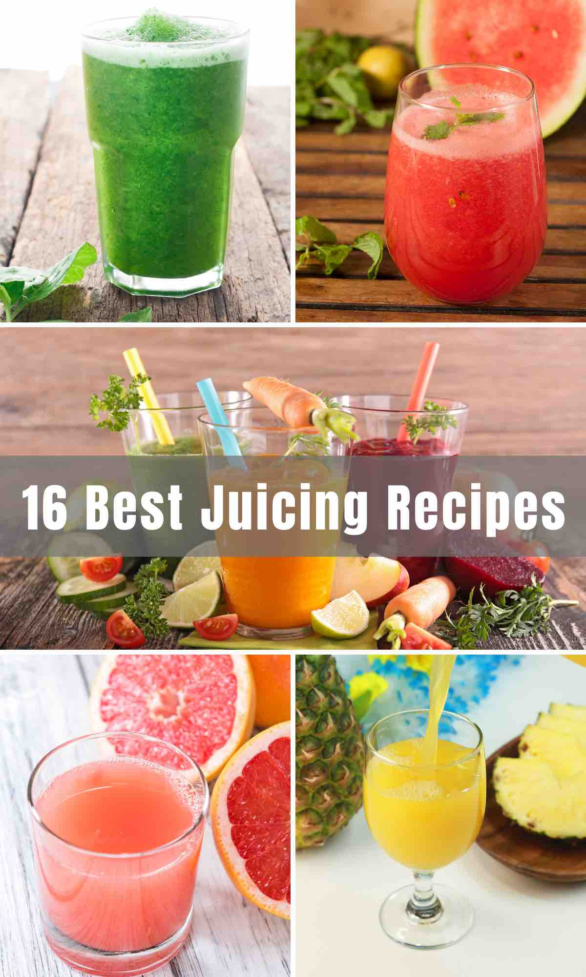 Check out these 16 Best Juicing Recipes and learn how to make your own healthy and refreshing juice at home. From green juice recipes to vegetable juice, fruit juice, to detoxing ones, we'll give you enough choices that your whole family will be satisfied with.