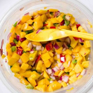 Mango Salsa is one of the best and easiest Mexican side dishes.
