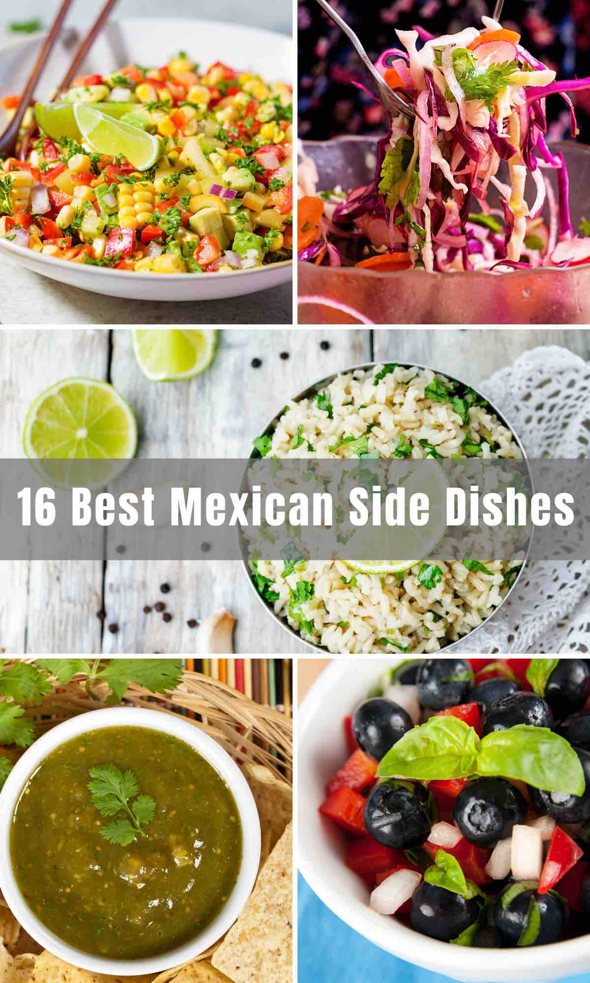 We've collected 16 Best Mexican Side Dishes that you can serve on Taco Tuesdays and other nights of the week when you want to have Mexican food. From Enchiladas to Mexican Street Corn Salad, to Easy Guacamole, we have listed all the popular Mexican side recipes below to serve with your tacos, fajitas, and other dishes.