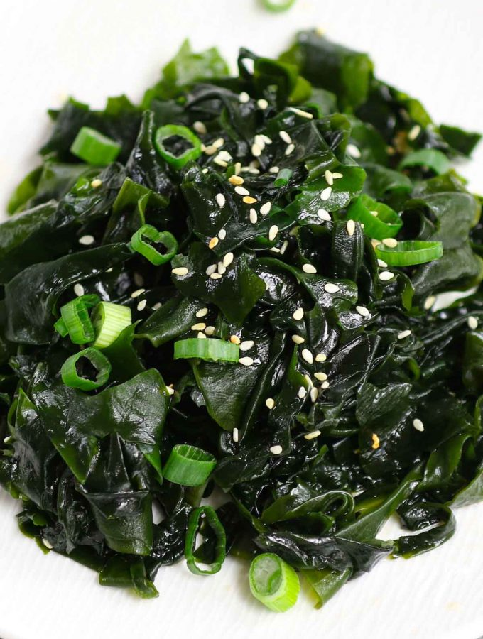 This healthy Seaweed Salad is refreshing, delicious, and super easy to prepare. Made of dried wakame, sesame seeds, and a simple dressing, this Japanese salad recipe is made from scratch and loaded with great nutrients. Serve with cherry tomatoes and green leafy vegetables for a low-carb lunch or dinner!