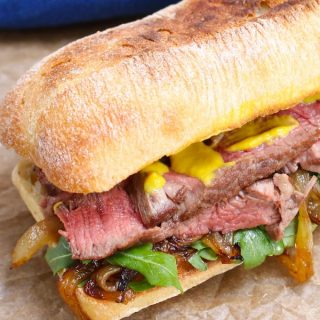 Steak Sandwich is a delicious and flavorful leftover steak recipe that's so easy to make!